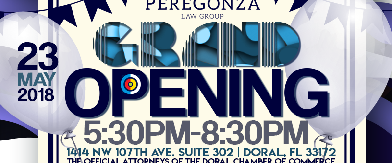 Attorney Marketing Annex introduces the Grand Opening of PereGonza Law Group.