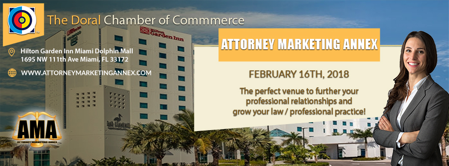 Attorney Marketing Annex DOC event at Hilton Garden Inn.